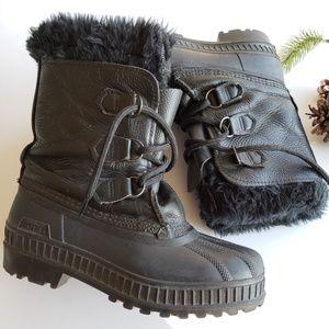 Sorel | Alpine Black Leather Winter Snow Boots 4